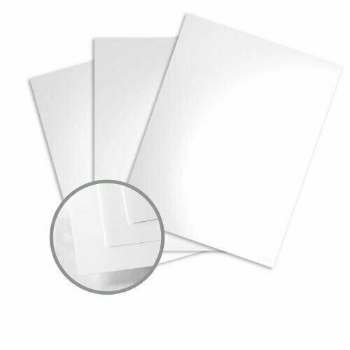 11 x 17 Color Copy Gloss Pure White Cardstock - 100lb Cover Glossy C/2S - 250/Pk