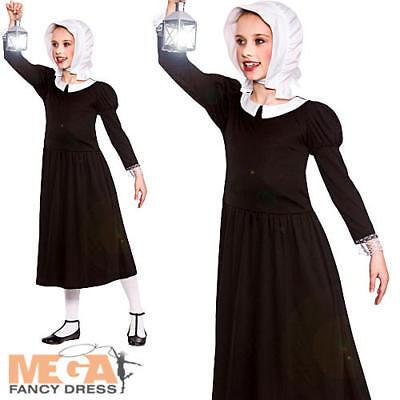 Victorian Florence Girls Fancy Dress Nurse Nightingale Childrens Kids Costume