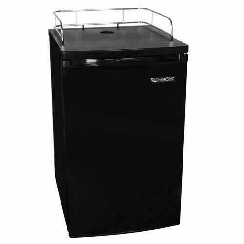 "EdgeStar BR2001 20""W Ultra Low Temp Refrigerator for Kegerator - Black"