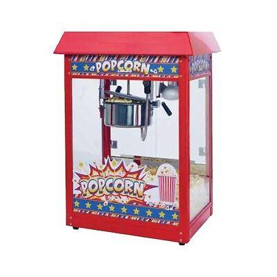 Winco Pop-8r Showtime Electric 8 Oz. Popcorn Machine 120v 1350w Red