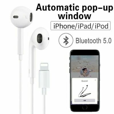 Lightning Earphones With Mic Bluetooth headphones Pop-Up For iPhone 7 8 Plus X