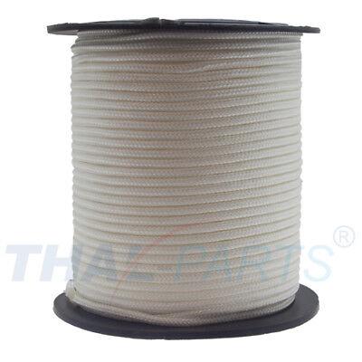 100m Nylonseil Polyamidseil Perlonseil weiß Durchmesser 4mm Bruchlast 260 daN