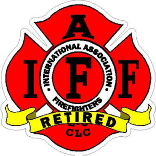4 Inch Reflective IAFF Retired Firefighter Maltese Sticker Decal