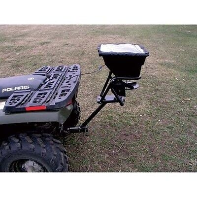 ATV Receiver Mount Spreader - 80 Lbs - 12 Volts - Wiring Harness - Rain Cover