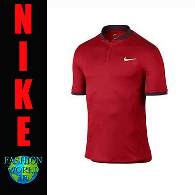 Nike Men's Size XL Court Advantage Tennis Polo Shirt  729384 Red/Maroon
