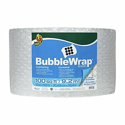 Duck Brand Large Bubble Wrap Roll 516 Cushioning 12 X 100 Perforated Every