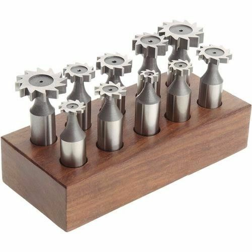"Grizzly 10 PC Woodruff Key Cutter Set HSS M2 1/2"" Shank H5865"