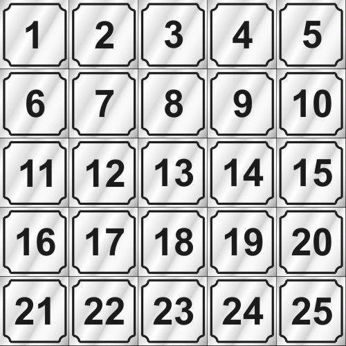 Number Decal (1 - 25)  For Dexter, Wascomat, Speed Queen, Huebsch, Maytag Washer