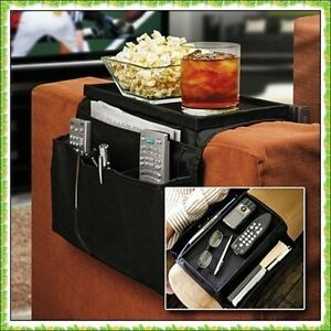 Armchair ArmRest 6 Pocket Organiser Snack TV/Phone Table Ideal Adult Gift UK A1