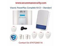 VISONIC POWERMAX COMPLETE KIT D - STANDARD ALARM SYSTEM HOME BUSINESS UK SELLER