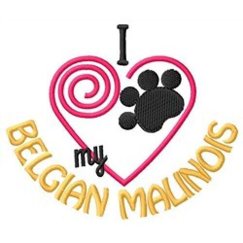 I Heart My Belgian Malinois Ladies Short-Sleeved T-Shirt 1286-2 Size S - XXL