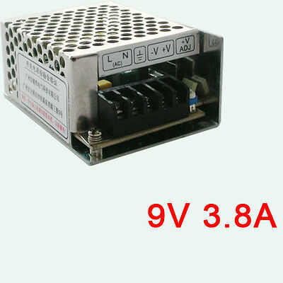 Aluminum Universal Regulated Switching Dc 9v 3.8a 35w Power Supply Converter