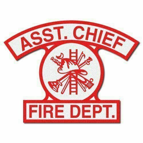 3M Reflective Arch-Style Fire/Rescue/EMS Helmet Front Decal - Asst. Chief