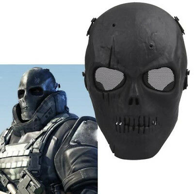 Tactical Protection Gear Full-Face Skull Mask War Game Airsoft Paintball Games