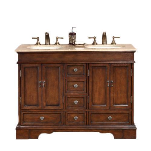 48 double sink vanity ebay - 48 inch double sink bathroom vanity ...