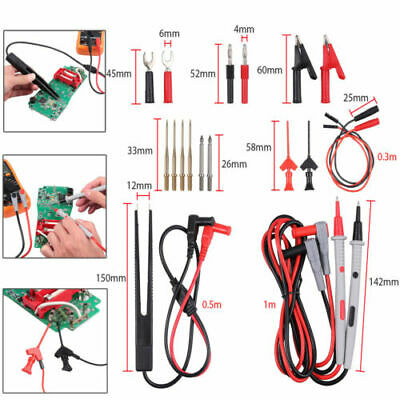 21 In 1 Electrical Multimeter Kit With Alligator Clips Test Lead Test Probeplug