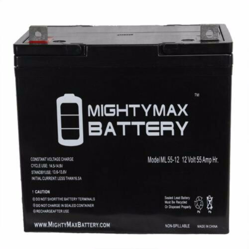 Two 12v 55ah 22nf Batteries Gel For Scooters, Power Chairs, Golf Carts, Etc