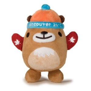 "Vancouver 2010 Olympic Mascot - Mukmuk w/ Red Mittens 7.5"" Plush"