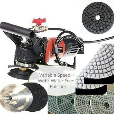 Wet Grinder Polisher Concrete Masonry Granite Polishing Pad 335 Buffer Terrazzo