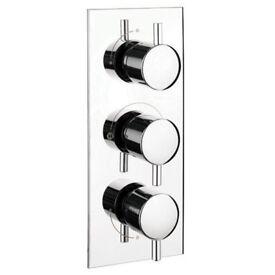 bathstore basics triple shower valve - new