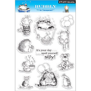 BUBBLY-Penny Black Clear Acrylic Stamps-Stamping Craft-Critters/Hedgehogs/Cats