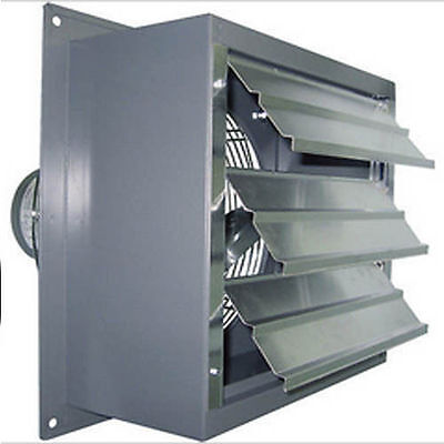 Industrial Wall Exhaust Fan - 3420 Cfm - 13 Hp - 20 Fan - 115 Volts - 1 Speed