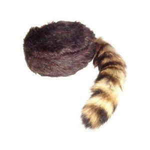 086bf282236 Raccoon Skin Hat · Coonskin Fur Trapper Raccoon Tail ...