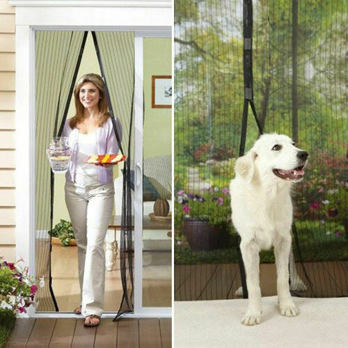Hands-Free Magnetic Screen Door Mesh Net BLOCK Mosquito Fly Insect Bug Curtain 3