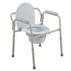 3-In-1 Portable Commode Chair