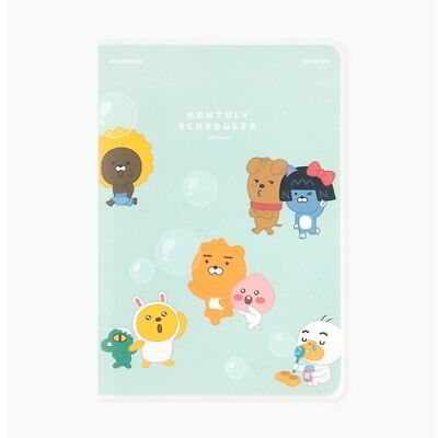 Kakao Little Friends Monthly Planner Organizer Mint Diary Ryan Tube Apeach Muzi