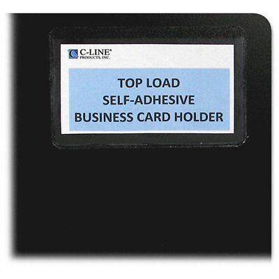 C-line 70257 Top Load Business Card Holder - 3.5 X 2 - Vinyl - 10 Pack -