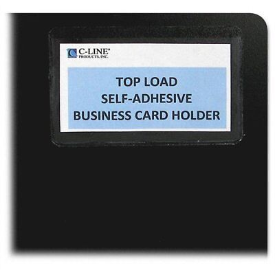 C-line 70257 Top Load Business Card Holder - 3.5 X 2 - Vinyl - 10 Cli70257