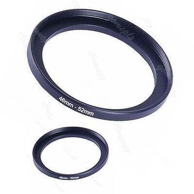 Metal 46mm-52mm Step Up Lens Filter Ring 46-52 mm 46 to 52 Stepping Adapter NEW