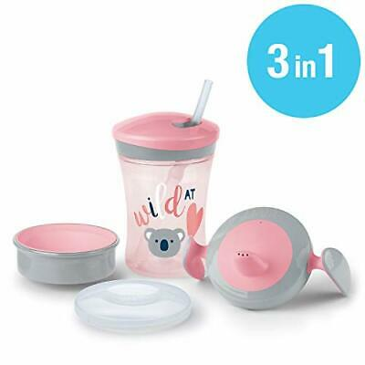 NUK 3-in-1 Trinklern-Set, mit Trainer Cup Trinkbecher Baby, Magic Cup 360°