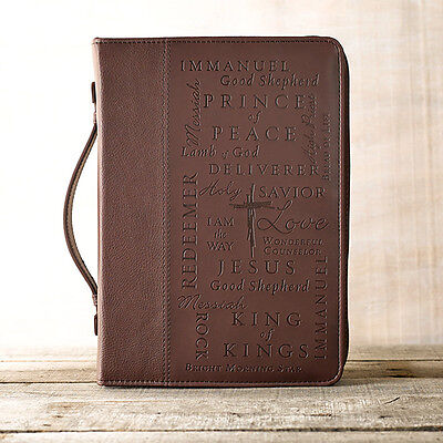 - LuxLeather Names of Jesus Bible Cover, Large