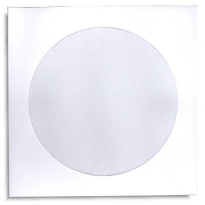 1000-pak White Paper Cddvd Sleeves With Window And No Flap 100gram Weight