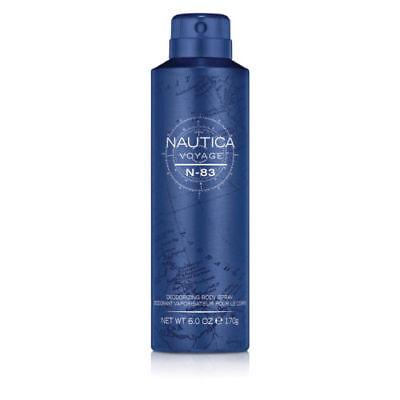 Nautica Voyage N-83 Deodorizing Body Spray for Men 6 oz New