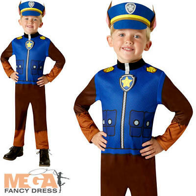 Paw Patrol Chase Boys Fancy Dress Book Day Police Dog Kids Childs Costume Outfit