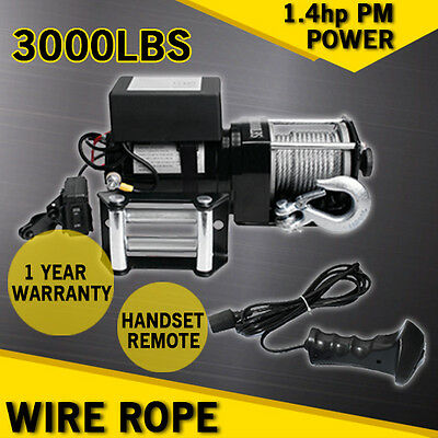 HEAVY DUTY RECOVERY NEW 12V 3000LBS Pull 6000lb ELECTRIC WINCH + WIRELESS REMOTE