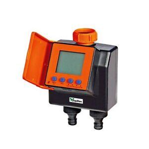 Centralina elettronica per irrigazione bizona giardino con for Timer x irrigazione