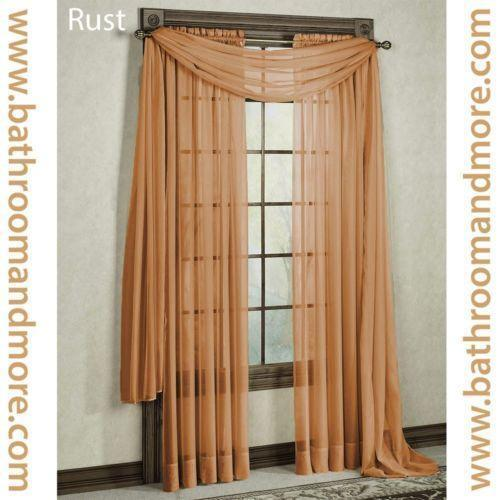 rust colored kitchen curtains rust curtains ebay 4956