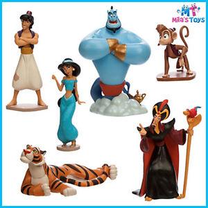 Disney Aladdin Figure Figurine Play Set cake topper Jasmine Rajar Genie Abu