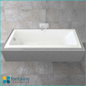 Zeus 1700 Drop in Bath Tub Bathtub Square Modern Bathroom Quality NEW!