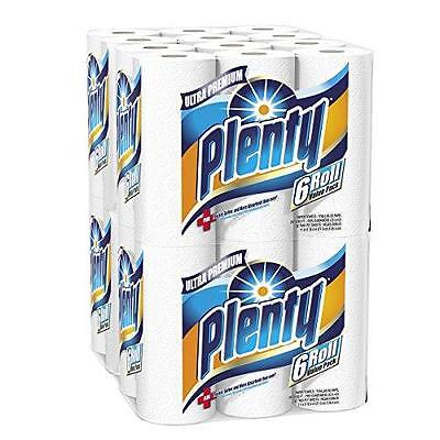 Plenty Ultra Premium Full Sheet Paper Towels, White, 24 Total Rolls New