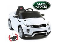 KIDS 12V RANGE ROVER EVOQUE RIDE ON CAR, MP3 INPUT, LIGHTS ETC, BRAND NEW BOXED