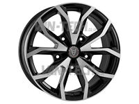 Brand new set of Wolfrace Assassin Black / polished 18″ Alloy Wheels Ford Transit