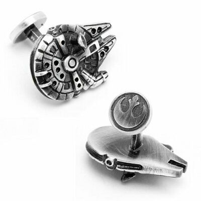 Cufflinks Novelty * Movies, Games, TV * Star Wars Millennium Falcon Cuff Stud