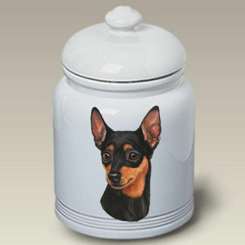 Miniature Pinscher Ceramic Treat Jar LP 45151