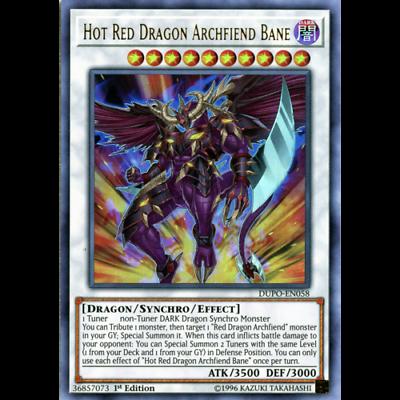 Super Rare HSRD-EN040 1st Edition Hot Red Dragon Archfiend - High-Speed Riders Yu-Gi-Oh!