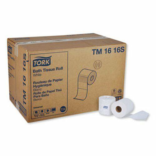 Tork Universal Bath Tissue Roll, 2-Ply, White, 96 Rolls (TRKTM1616S)